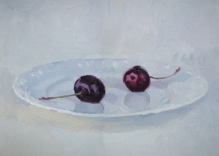 Andrew Holmes, Cherries on a Plate