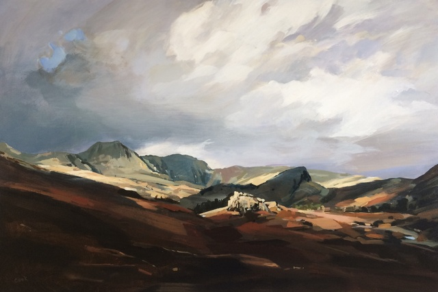 <p>Colin Cook, Acros the Valley to the Langdales</p>