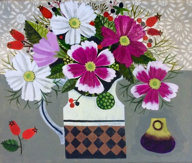 <p>Vanessa Bowman, Cosmos, Rosehips and Fig</p>